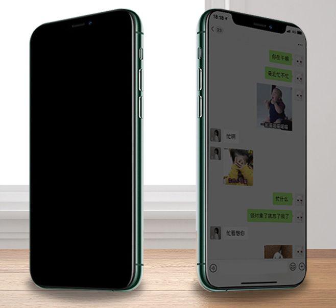 Adequado para iPhone 11 Anti-peeping temperado Film para iPhone11 completa-Screen Anti-peeping vidro temperado Film alta Transparência