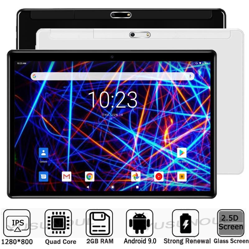Tablet PC SALES!!!Google Play Super Glass 10 Inch Android 9.0 OS 2.5D TP IPS Screen Phone Call WiFi GPS Tablets 10.1+Free Gifts