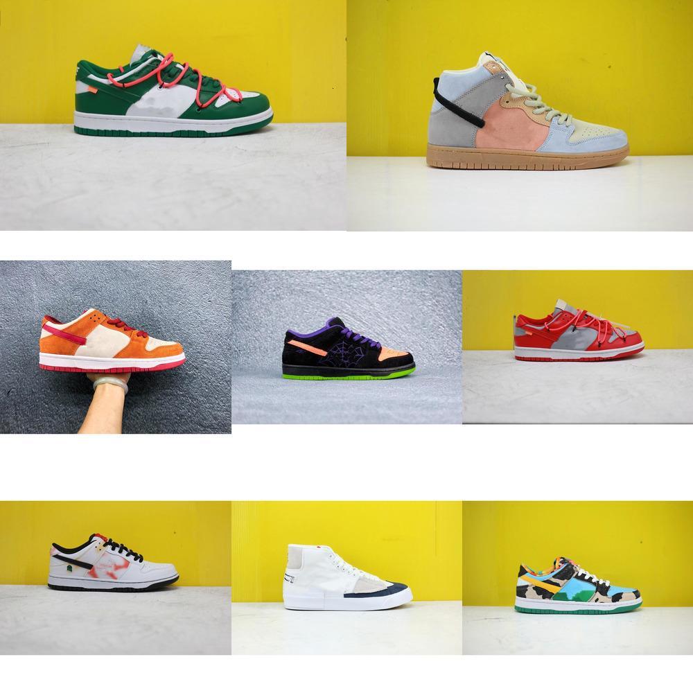 2020SS neue Farbe Schuhe für Männer Frauen Dunk SB Turnschuhe weiß, grün, gelb niedrig hoch studierenden Jugend legerem Luxus FICL XHFI VYW5 läuft