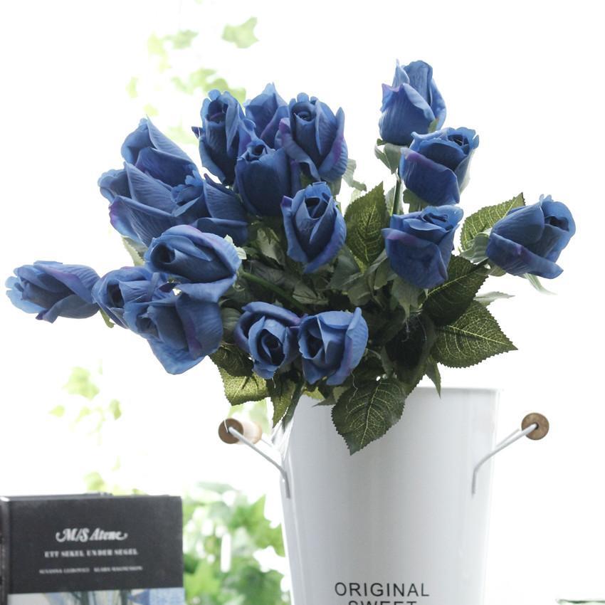 8 colore umidità vera sensazione artificiale Rose realistica artificiali bouquet Rose per casa di nozze Decorazione per feste fabbrica direttamente vendita