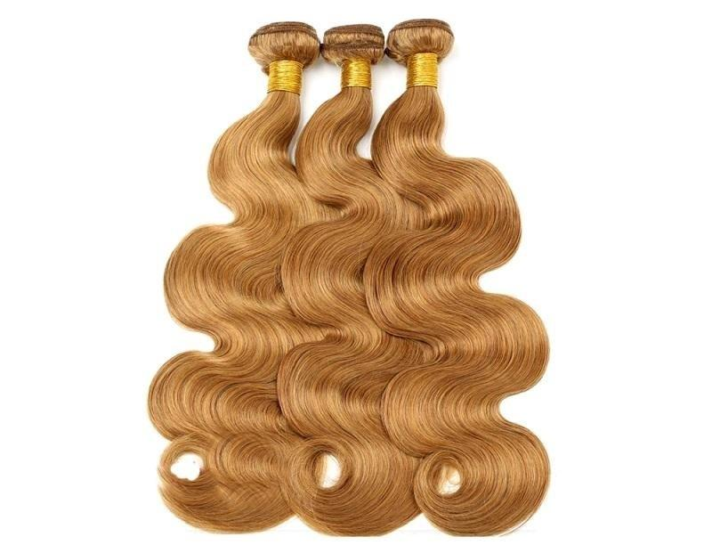 Unprocessed brazilian virgin human hair bundle colored straight 3pcs 300g lot for one head color#27 no shedding no tangle last long time