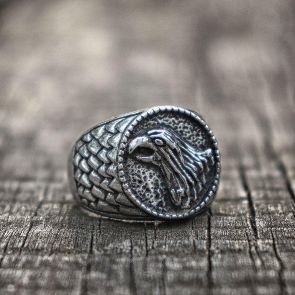 Acciaio inossidabile 316L Sigillo aquila uomo classico anello e motociclista monili del regalo di stile dell'uccello Anelli Vintage Dimensioni 7-13