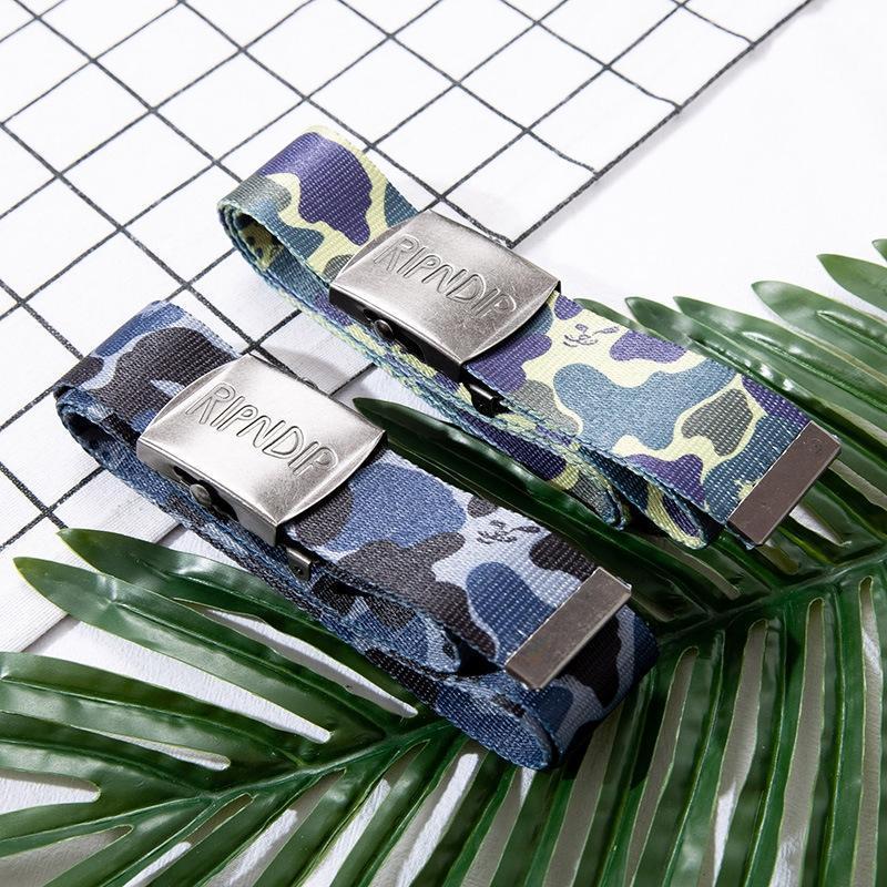 MAO RIPNDIP base de la mode ceinture de camouflage chat chat médius ruban ruban Hip Hop rue ceinture à la mode