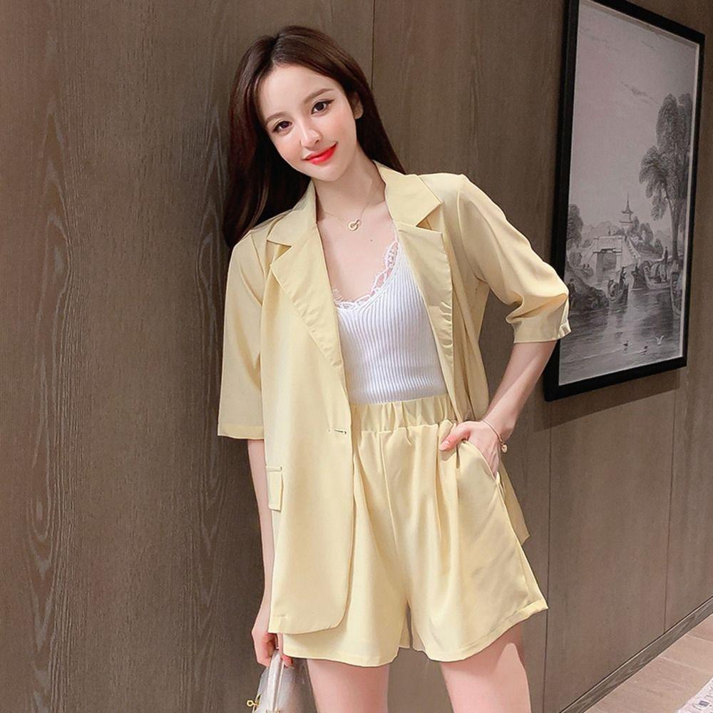 GV0n6 Lady Qian verticalchic Internet celebrity suit summer jacket jacket women's small Korean style casual suit