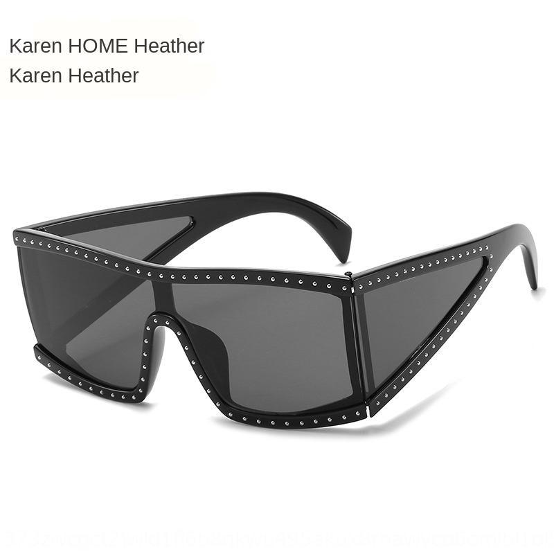 Новые алмазных инкрустированный большая рама солнца 2075 персонализированных очки солнцезащитных очков женщины вся-матч ВС цельной I7UMJ