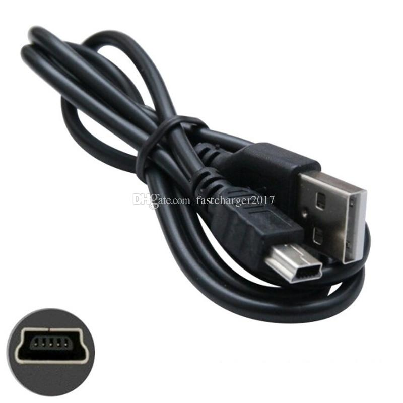 MINI 5PIN Cabo USB 20cm 70cm 80cm 1M 3FT USB para Mini 5Pin V3 Cabos Fio para Câmera Digital GPS MP3 Media Player