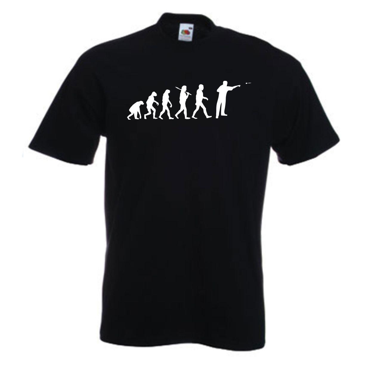 Marca la moda hombres de venta de moda de verano lanza la camiseta personalizada Evolución Dardos Camiseta con Nombre del inconformista camiseta