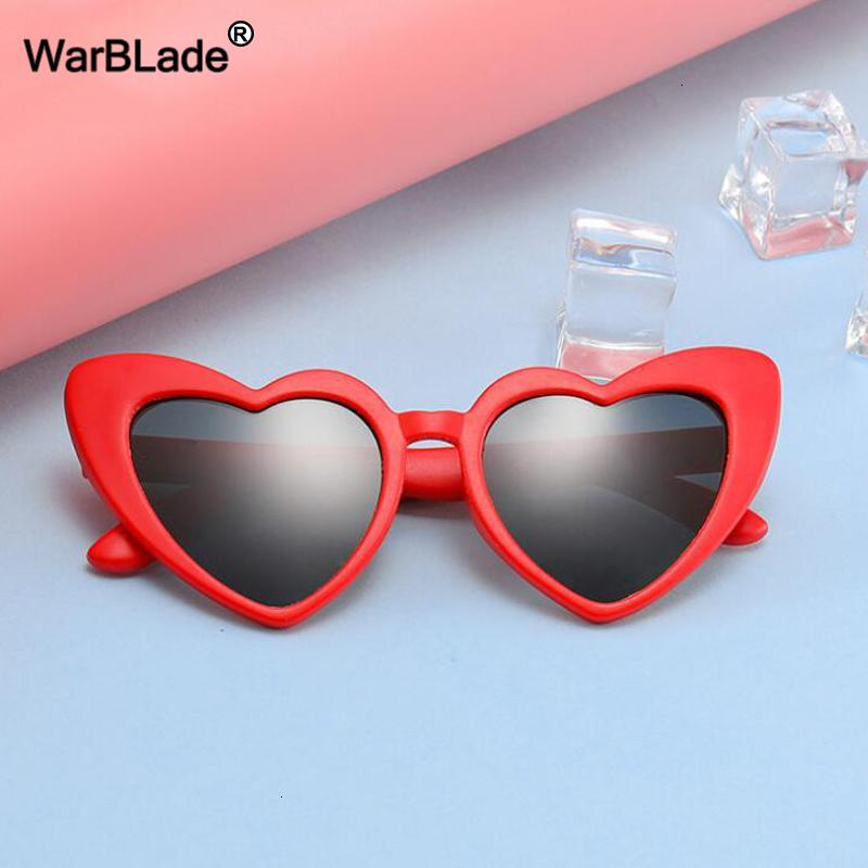 Warblade New Children Sunglasses Kids Polarized Sun Glasses Love Heart Boys Girls Glasses Baby Flexible Safety Frame Eyewear