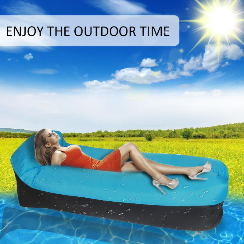 Portable Simple Inflatable Bed Sofa Couch Pillow Sleeping Beds for Outdoor Camping Travelling
