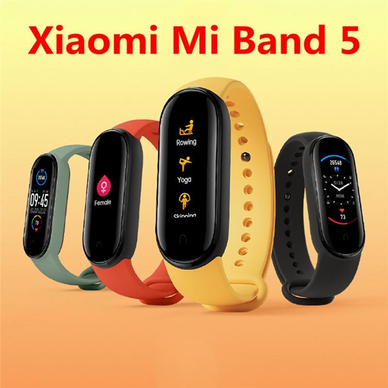 Original Xiaomi Mi Band 5 Smart Armband Smartband Fitness Tracker Armband NFC-Version Amoled Farbbildschirm 5ATM Wasserdichte Sport Smartwat