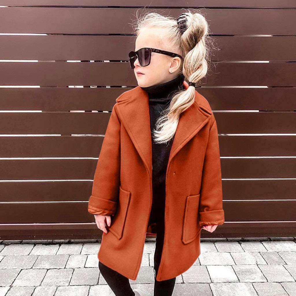 الجملة ins الفتيات الصغيرات معاطف القطن الشتاء جيوب أنيق أزياء أبلى الخريف الجبوك الجبهة