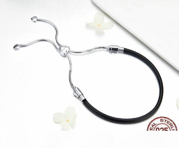 SPC6 (sans boite) 925 chaîne en argent Bracelet femmes perles rondes lien chaîne Bracelets Femme de bijoux en argent sterling