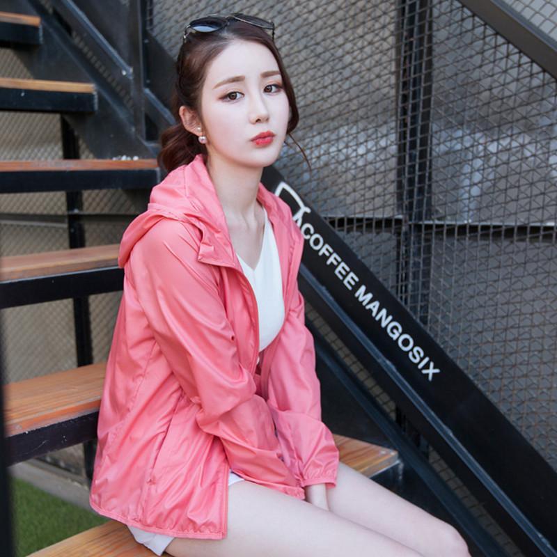 Wildbreaker Ultra-thin 2020 Summer Pink Jacket Woman Plus Size Korean Coat Women Sun Protection Clothing Jassen KJ461