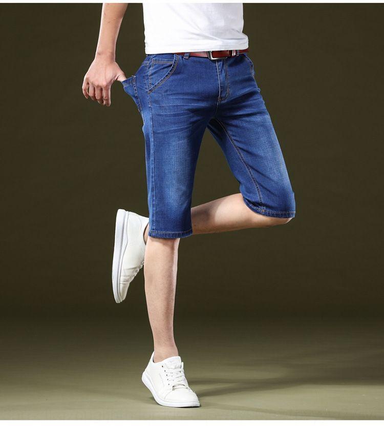 vvPxa pQAJo мужчин обрезаны Лето случайные джинсы и джинсовые мужские прямые все-матч джинсы укороченные брюки тонкий тонкий хлопок случайные штаны