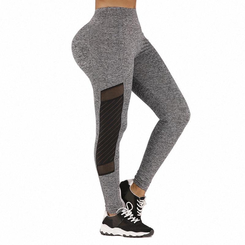 Splicing Yoga Leggings elastico ginnastica calzamaglia sexy di sport della maglia fitness Donne leggero portatile Fitness Sport pantaloni di yoga PrY9 #
