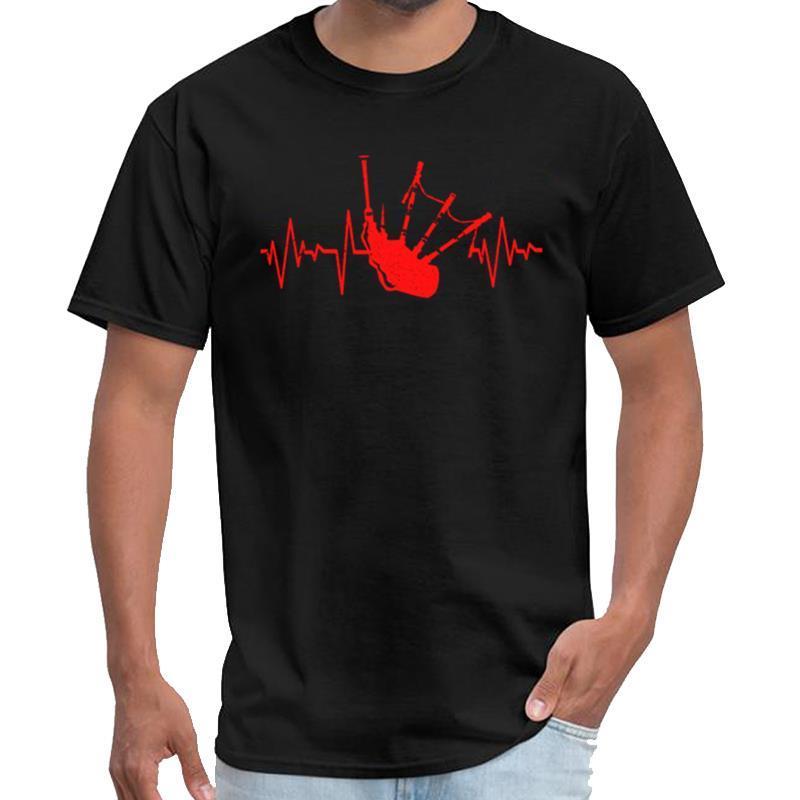 Impresso Bagpipes camiseta vintage homens mens rocha tshirt s-6xl normais