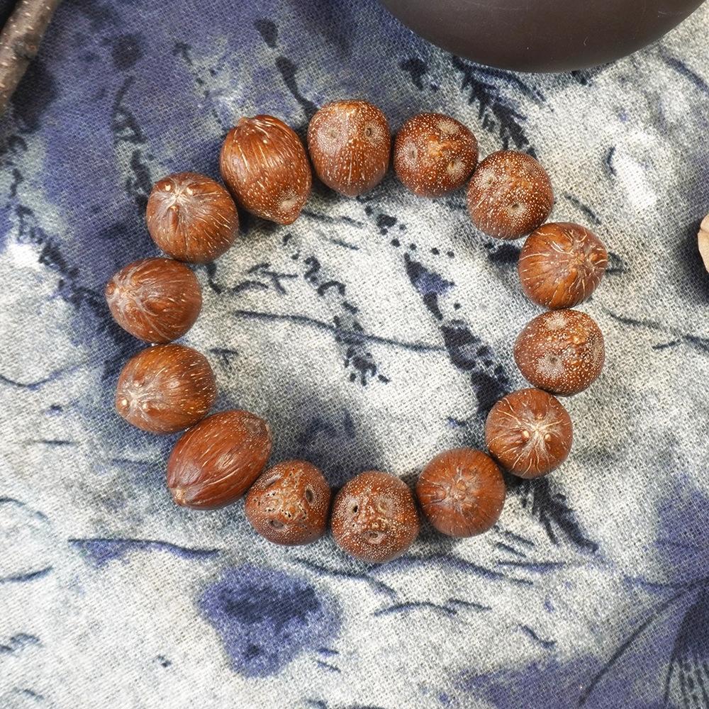Tre-Eyed viola d'oro fortunato seme originale rosario cancelleria braccialetto di grandi dimensioni cancelleria ciondolo decorativo Bodhi s3H4X
