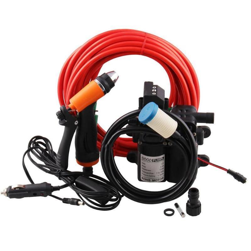 12V Bewegliche Hochdruckreinigung Deck Pumpe 100W Self-Priming Schnell Auto-Reinigungs-Waschpumpe Elektrischer Washer Kit