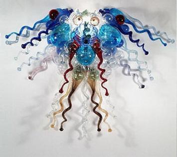 Bela arte decorativa candelabro de cristal e pingente luz artesanal Dale Chihuly estilo mão soprada candelabros para sala de estar
