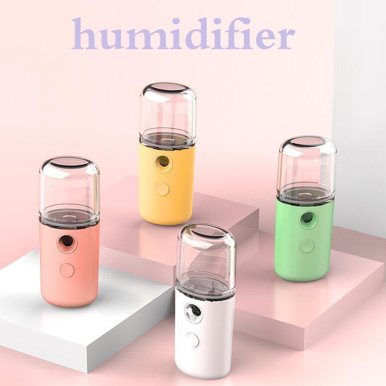 30ml Nano névoa pulverizador portátil Mini Handheld Verão Moisturing Facial Rosto Steamer Steamer Umidificador spray de Beleza Cuidados com a pele