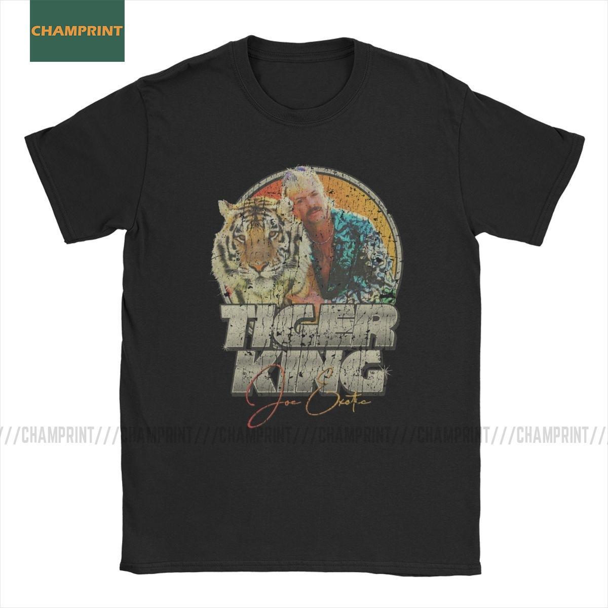 Hommes T-shirt Tigre Roi Joe exotique Coton T-shirt à manches courtes élection pour le président Amérique Animal Lovers Big Cats T-shirt
