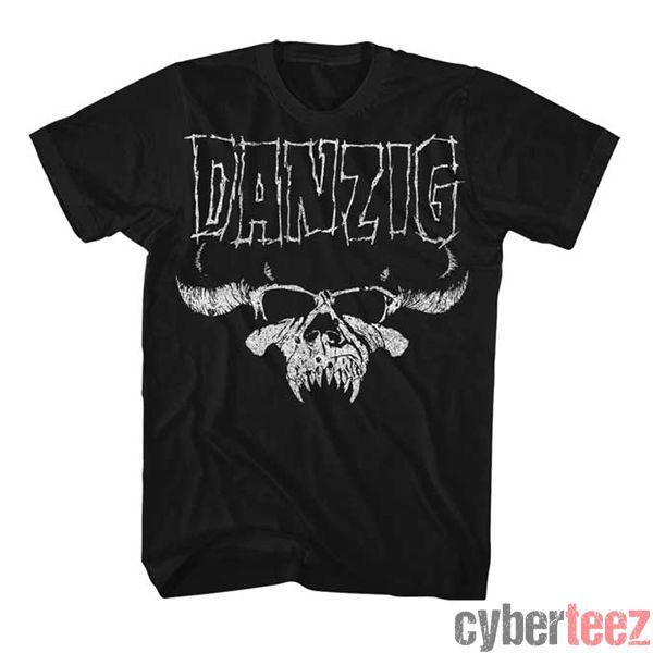 DANZIG cráneo camiseta apenada Misfits Glenn Danzig Nueva auténtica roca S-2XL