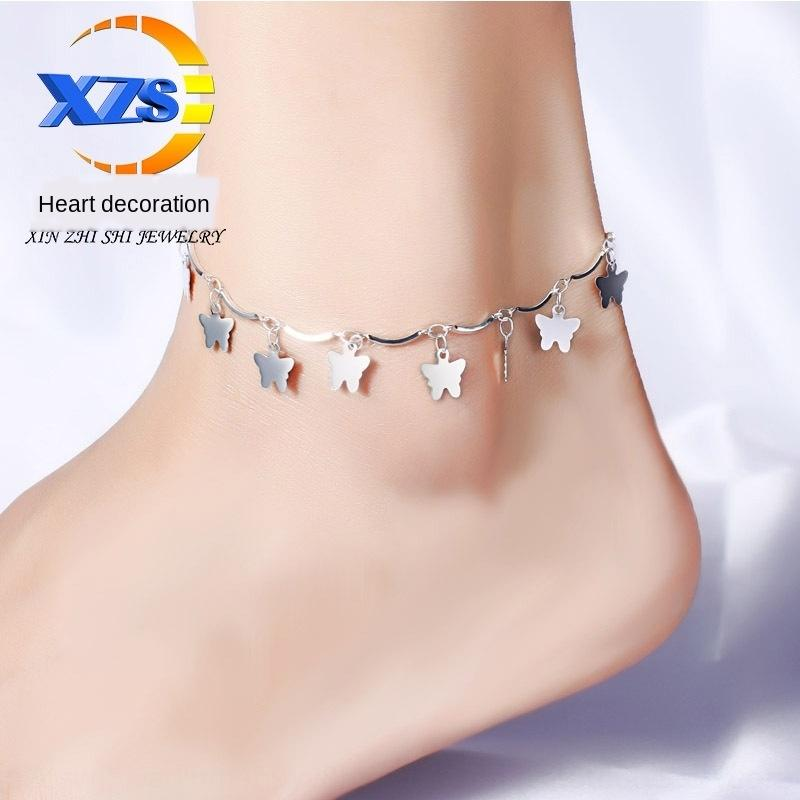 xO5mZ Сердце Ankl бабочка женские Принадлежности для сердца орнамент ножной Корейский моды женщин Корейский бабочка украшения аксессуары фа NEVzJ