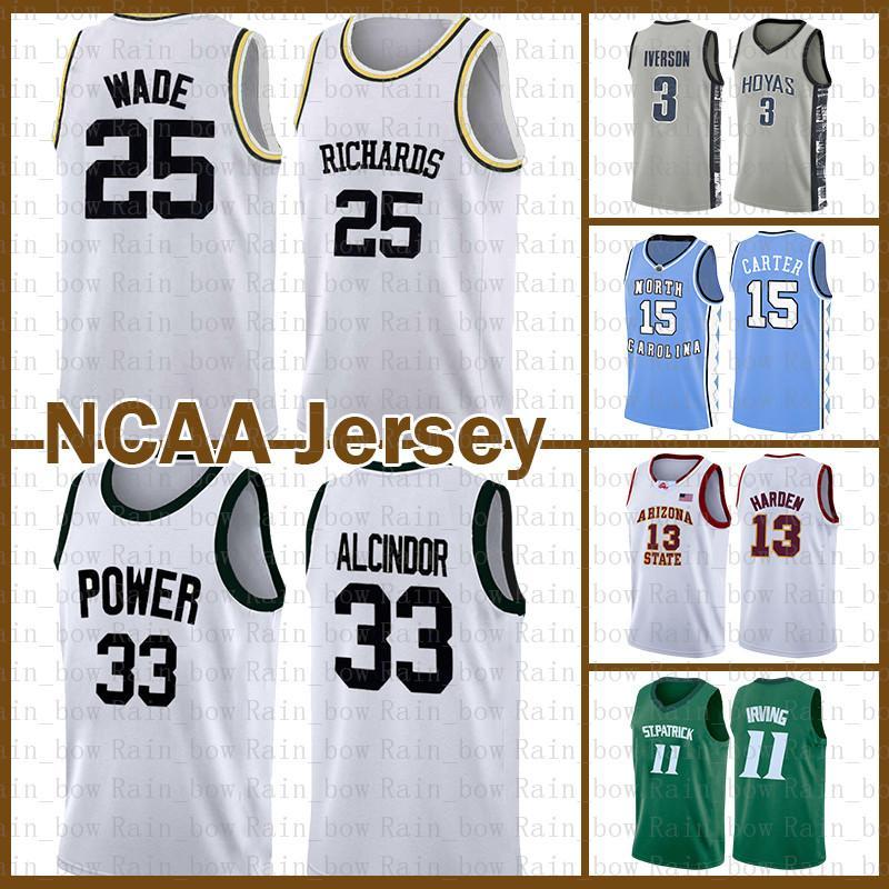 Dwyane Wade 25 NCAA Kareem Abdul-Jabbar 33 Ferdinand Lewis Alcindor Stephen 30 Curry Kawhi LeBron 23 James Leonard Basketbol Jersey Irving