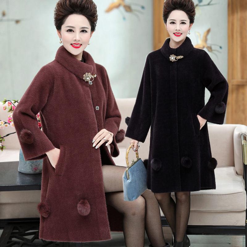 2020 nueva capa de la bola de la manera empalmado Mujeres largo invierno de la chaqueta de lujo suelta más caliente 6XL Tops Abrigos Mujer F2207