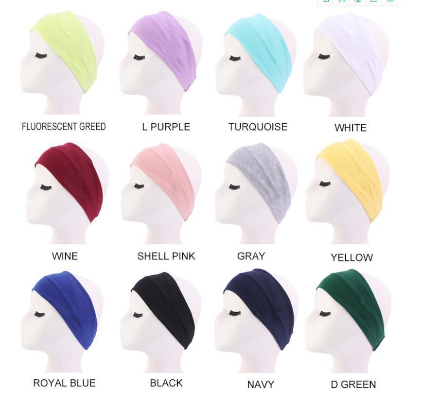 Femmes élastique Yoga Coton Bandeaux Mode Hommes Sport headwraps Bandeaux Archets Accessoires cheveux pour unisexe gros