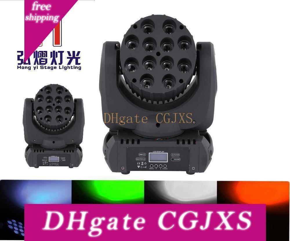 (2 Pieces / Lot) Eu / nous / Royaume-Uni / Au Minifiche Led tête mobile Faisceau RGBW 12 * 12W DMX512 faisceau Effet Party Disco Light