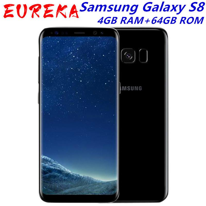 Original unlocked Samsung Galaxy S8 SM-G950F 4G LTE Mobile phone 64GB 5.8 Inch Single Sim 12MP 3000mAh S-series Smartphone