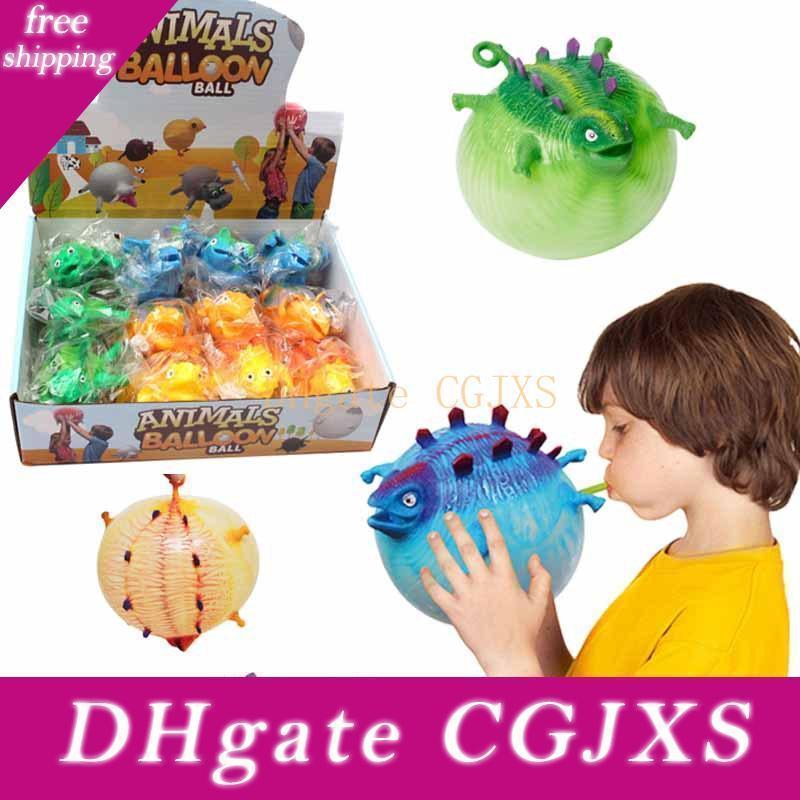 Dinosauro animale creativo Balloon Giocattoli Nuove unici TPR Giocattoli può soffiare Dinosaur Animali Vent palla gonfiabile L500