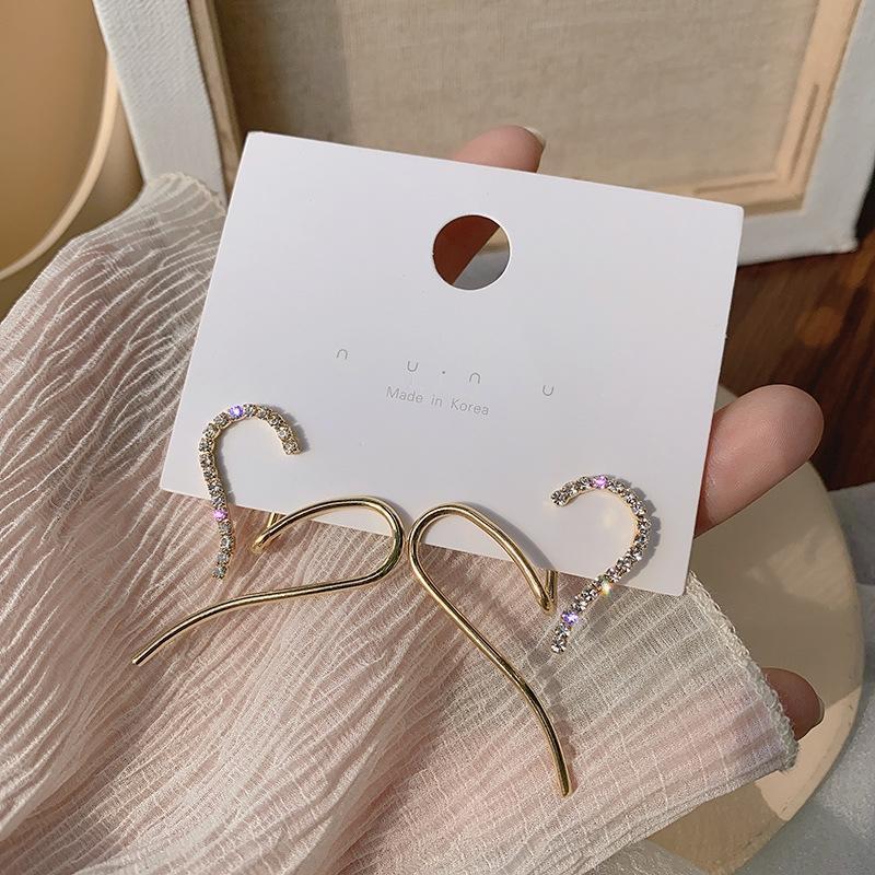 gHsd7 senso de design traseiro montado amor de diamante de celebridades on-line brincos Personali nicho de mulheres coreanas simples moda temperamento RyEEA