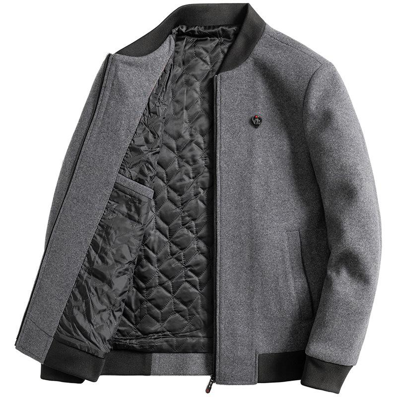 Thoshine Brand Winter 30% Wool Men Thick Coats Slim Fit Male Fashion Wool Blend Outerwear Jackets Smart Casual Jackets Baseball