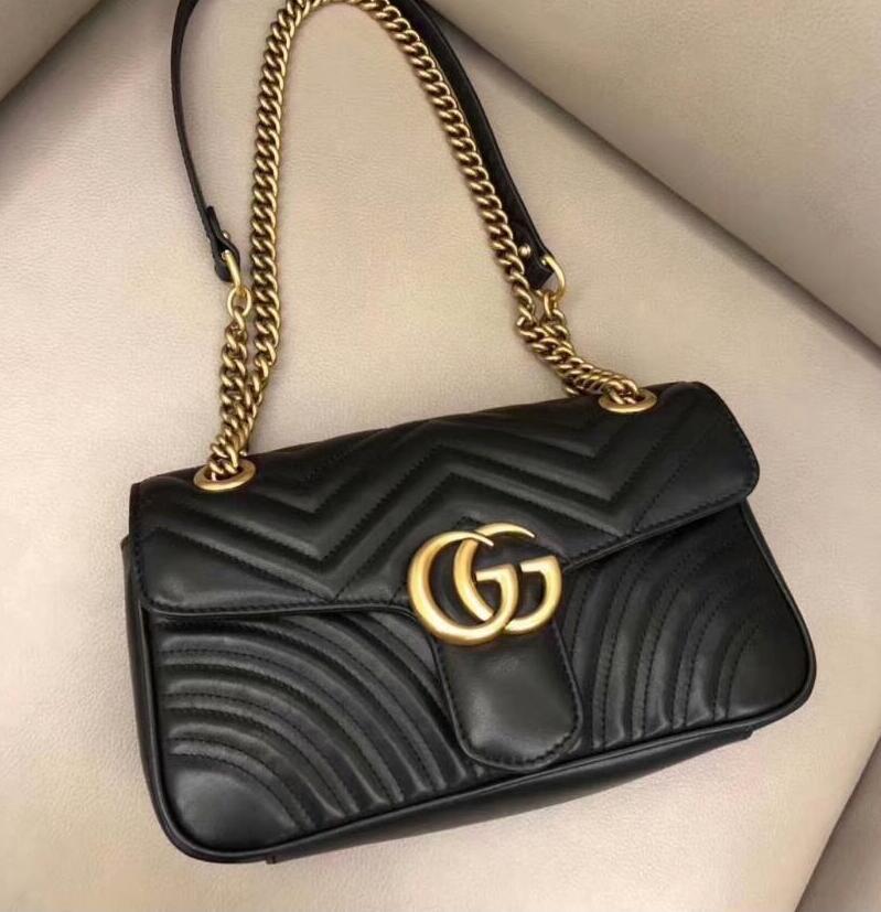 2017 bolsos de cuero acolchado del remiendo de las mujeres bolsos de hombro de las mujeres de la marca de la cadena de moda femenina bolso crossbody del bolso del monedero famoso diseñador 2019