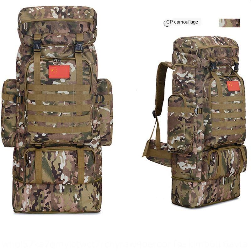 Erkekler seyahat çantası seyahat çantası ve kadın büyük kapasiteli 85 litrelik açık bagaj çantası kamuflaj yürüyüş sırt çantası