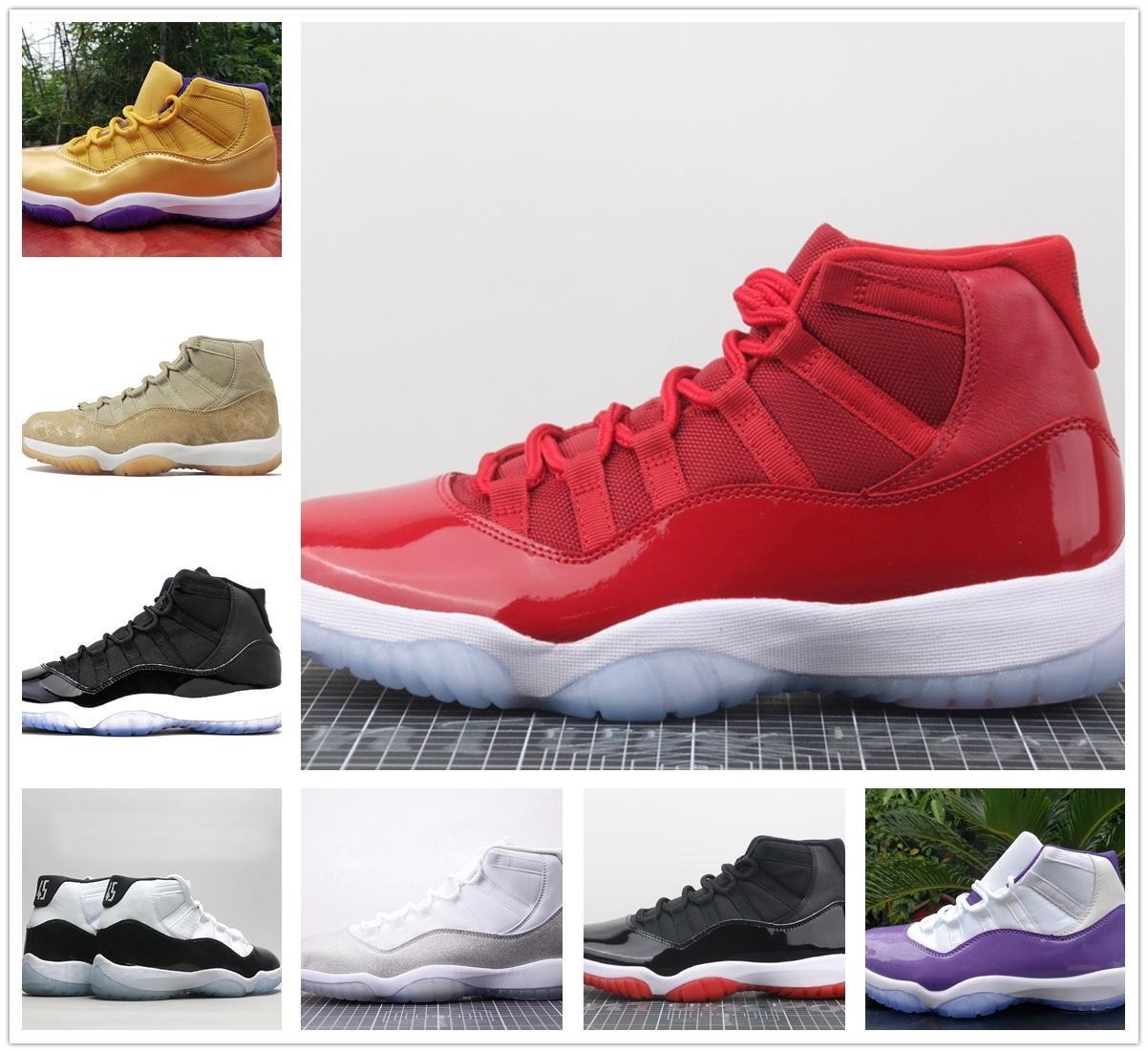Gli spazi versione Top fabbrica Jumpman Confetture 11s Xi 11 Mens scarpe da basket donne Gamma Blu Gs Bred Concord Sport Sneakers con la scatola