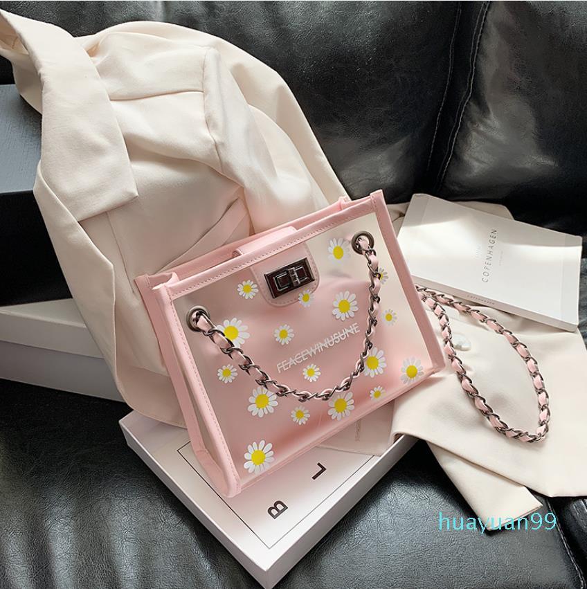 Nouveau-Sac 2020 d'été nouvelle chaîne de mode unique Sac à bandoulière avec des sacs transparents Petit Carré