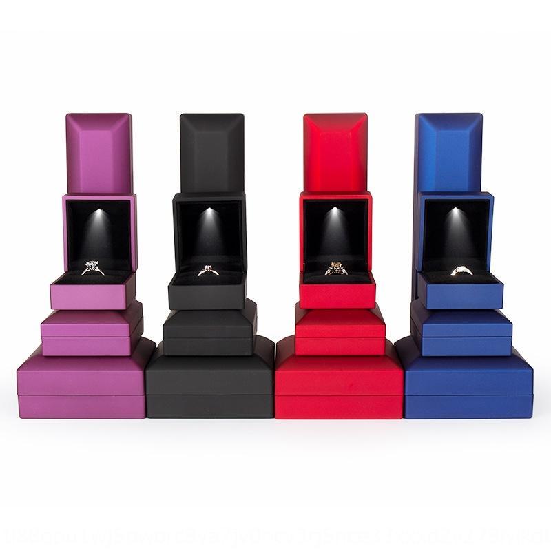 sVtOX LED lamba kolye yaratıcı takı hediye yüzük kolye kolye ambalaj mücevher kutusu bilezik kutusu