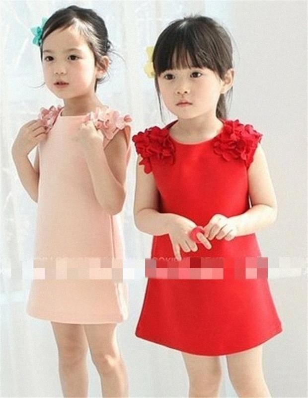 Mädchen Kleid Kinder-Nachtwäsche Kinder-BaumwollSleeveless Sommer sticken Blumen-Mädchen-Strand-Cartoon-Muster reizende Prinzessin nR61 #