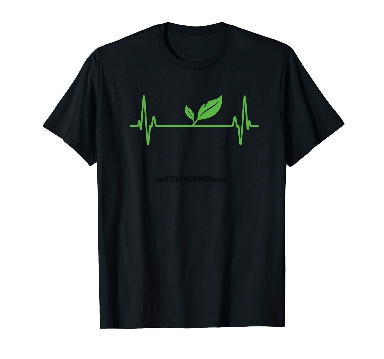 Vegan ou vegetariano Planta pulsação vegetal Desenvolvido T-shirt Veggie camisa dos homens
