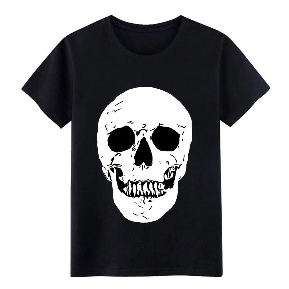 Cranio di Halloween uomini della maglietta Progettazione tee Euro Size S-3XL luce solare normale divertente camicia estate fresca casuale camicia
