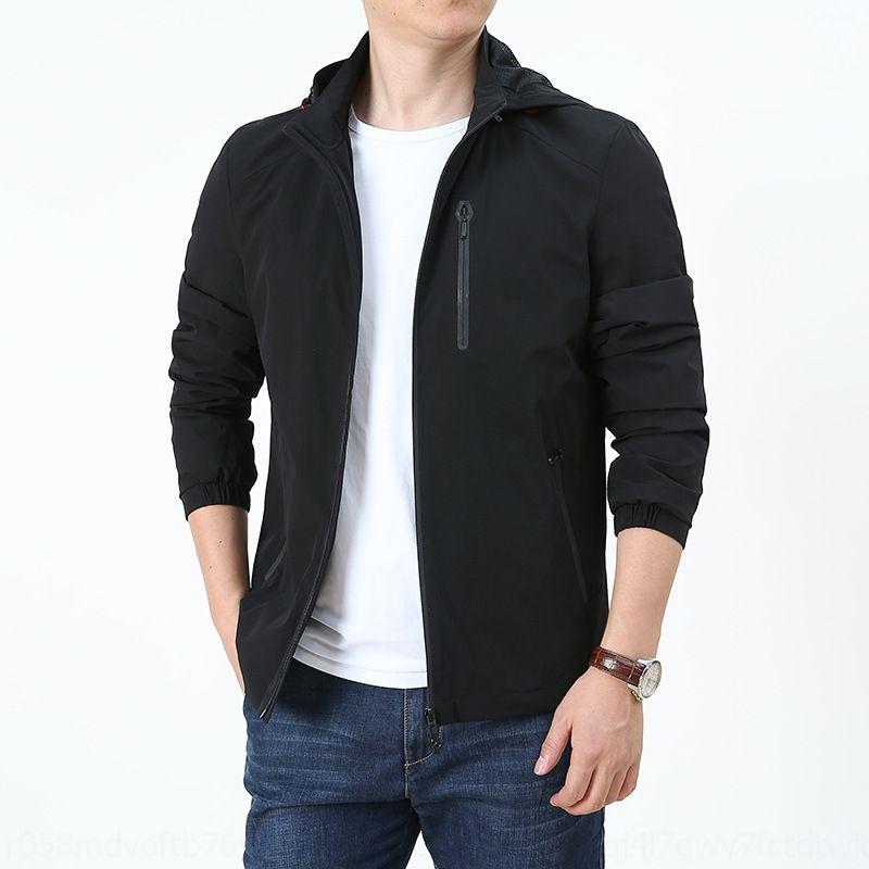 Ov3G3 FaeH0 2020 Automne / Hiver Nouveau manteau à quatre côtés hommes veste élastique veste lâche pour hommes minces de grande taille casualhat