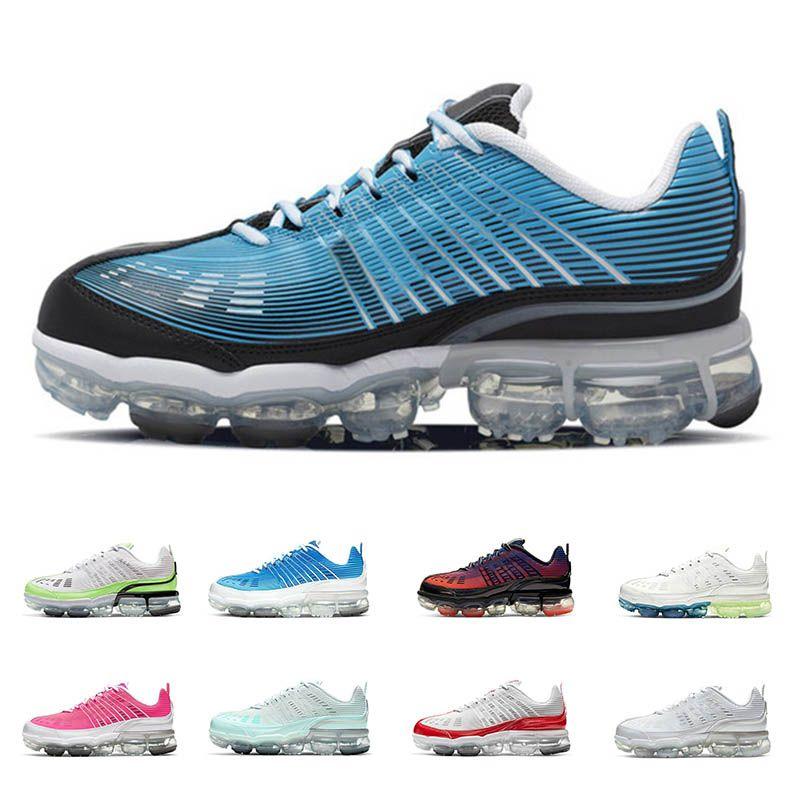 Nike Air vapormax 360 erkekler kadınlar ayakkabı Lazer Mavi Hayalet Yeşil Siyah yanardöner Işık Aqua Magic Ember Metalik Gümüş Zirve spor ayakkabı çalışan
