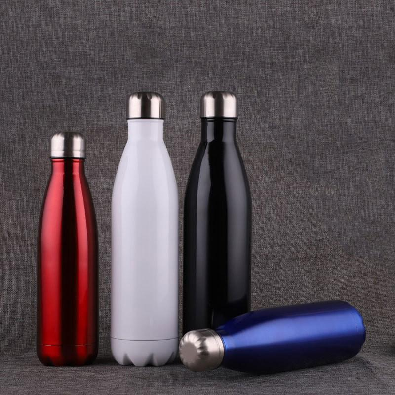 17oz Cola Shaped Bottle Insulated Double Wall Vacuum High -Luminance Cola Water Bottle Stainless Steel Tumbler Sports Water Bottle