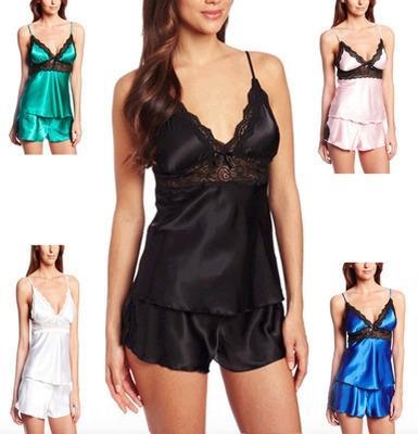 WEDLG caramelle color sexy multicolore delle donne bretelle casa pigiama tuta caramelle color sexy bretelle disponibili Iniziale paj di Sling NEpKb Donne