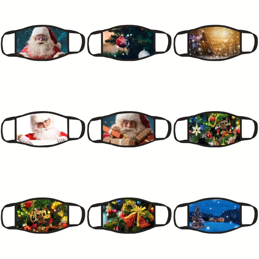 США фонда, Рождество Санта Клаус Маски для взрослых Смешные животных Cat Dog Printed Xmas лица Санта-Клаус Маски против пыли Рот Er моющийся многоразовый # 414