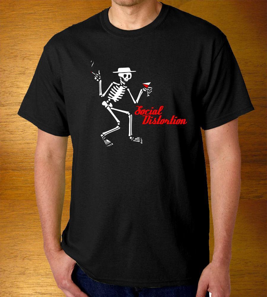 Mode pour hommes T-shirt décontracté de haute qualité pour les hommes d'été manches courtes hommes coton tee fitness t-shirt T-shirts SOCIAL DISTORTION-