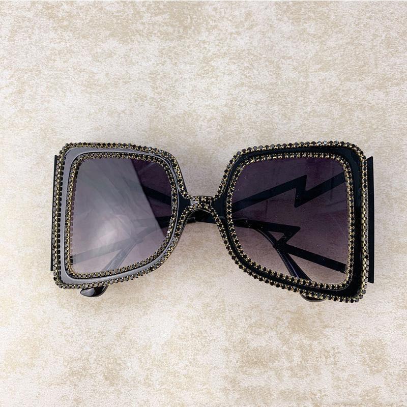 New Square Oversized Diamond Sunglasses Women Gafas Men Designer Glasses 2020 Vintage Laides Sun Big Lens Eyewear Vrsow